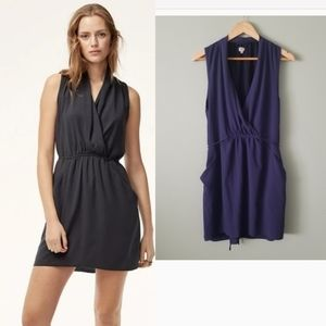 Wilfred Sabine wrap dress blue size large